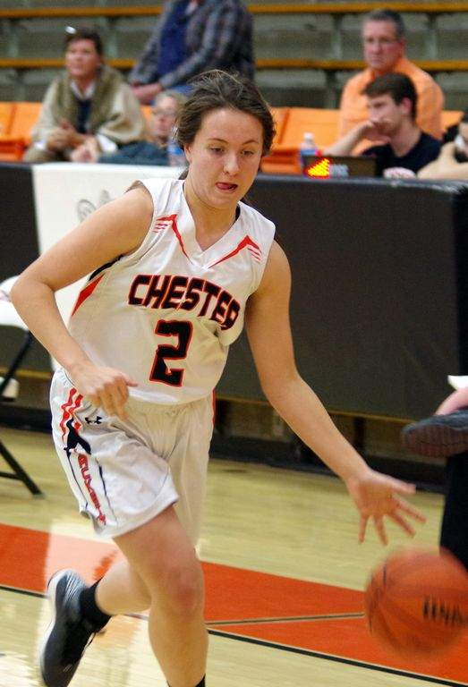 CHS sophomore Carlee Weir had a good outing at the Lebanon/Wesclin Christmas Tournament. Weir scored 48 points, grabbed 66 rebounds, dished out seven assists and had 12 steals in the four games.