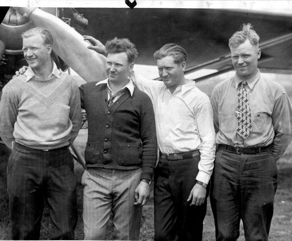 The Hunter brothers, Albert, John, Kenneth, and Walter, are pictured in an undated photo. The brothers were pioneers of aviation and Sparta's Hunter Field is named after them. They are being inducted in the Randolph Society's inaugural 2017 class of honorees