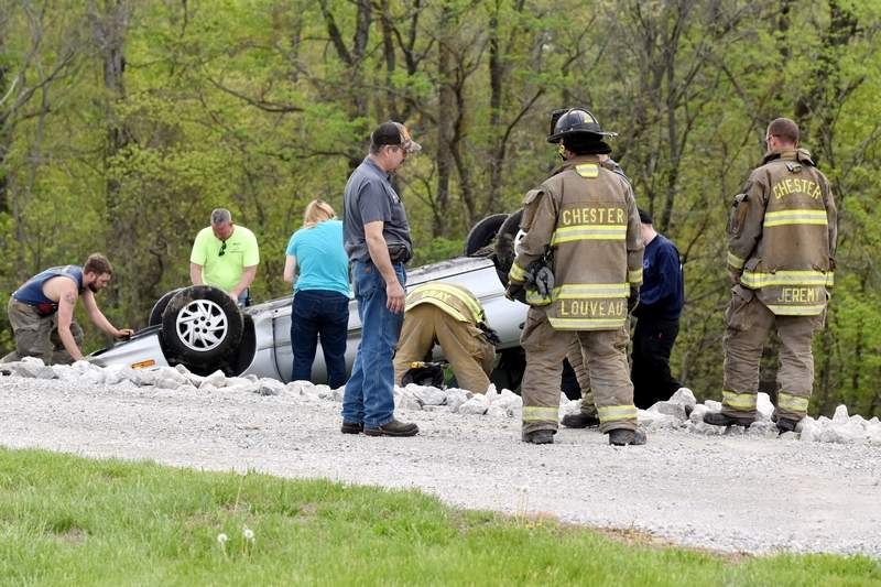 Smithton woman uninjured in Route 3 accident
