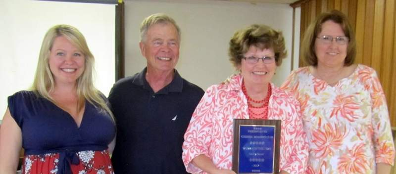 "Pictured are, from left, Becky Sauer Myers, Tom Sauer, Cathy Sauer and Renee Whittenburg. Cathy Sauer was named the 2017 Chester Women's Club ""Woman of the Year"" for 2017 during its meeting last month."