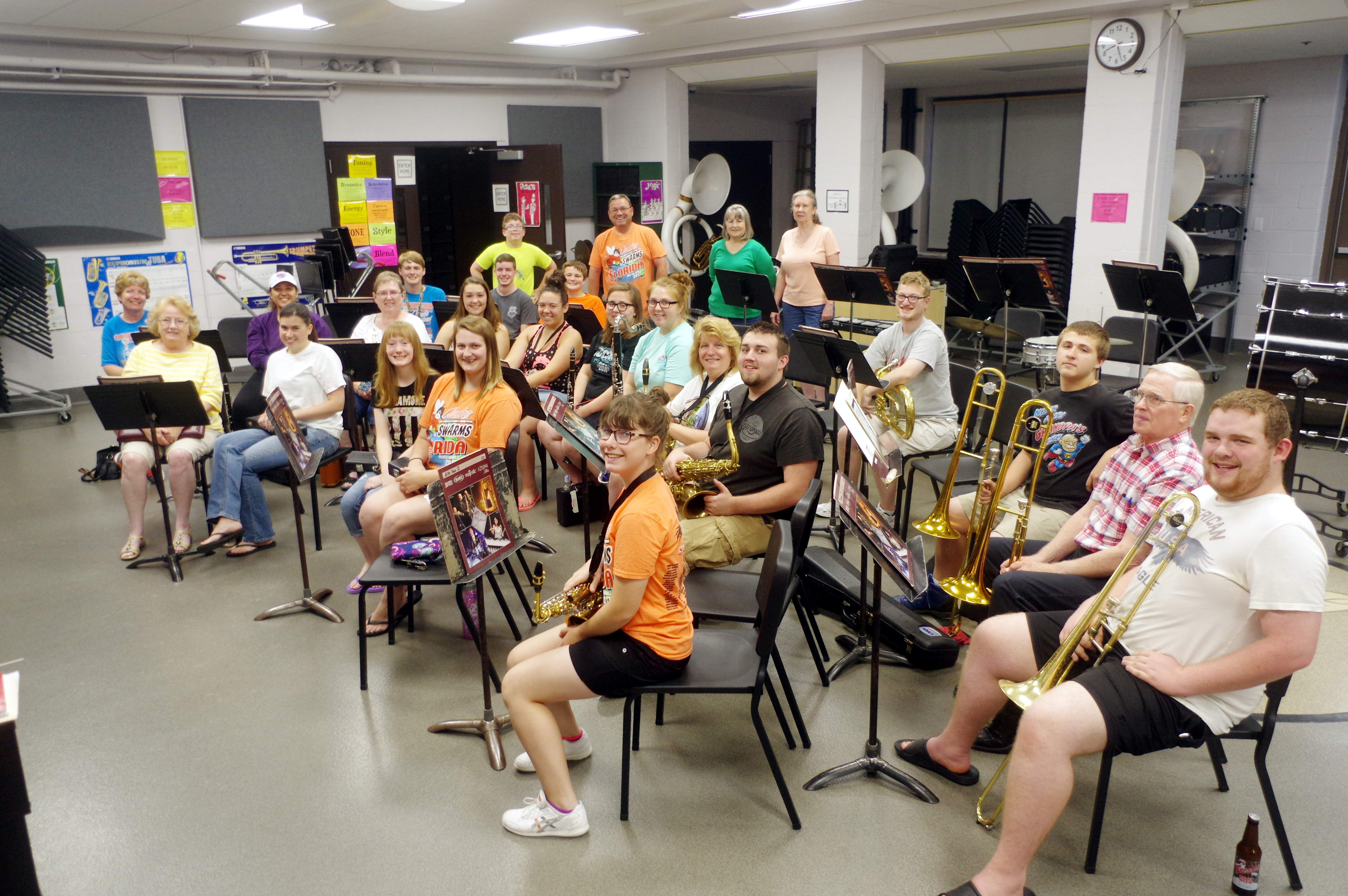 The Chester Municipal Band kicked off the 2017 Summer Concert Series with its first rehearsal June 8 at the Chester Grade School Band Room. This summer marks the 80th Anniversary for the Muni Band.