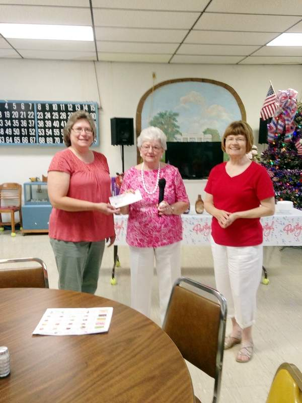 Pictured are, from left, Chester Senior Center Coordinator Donna Wolters, American Legion Auxiliary President Betty Wagner and ALA Vice President Ellen Kautz.