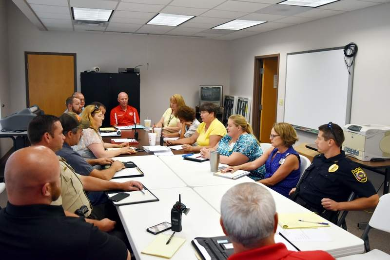 State, county and local officials met Aug. 8 at the Randolph County Health Department for their final pre-eclipse planning meeting.