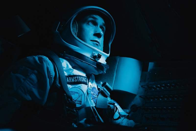A reluctant hero, Neil Armstrong (Ryan Gosling) is determined to make it to the moon in 'First Man.'