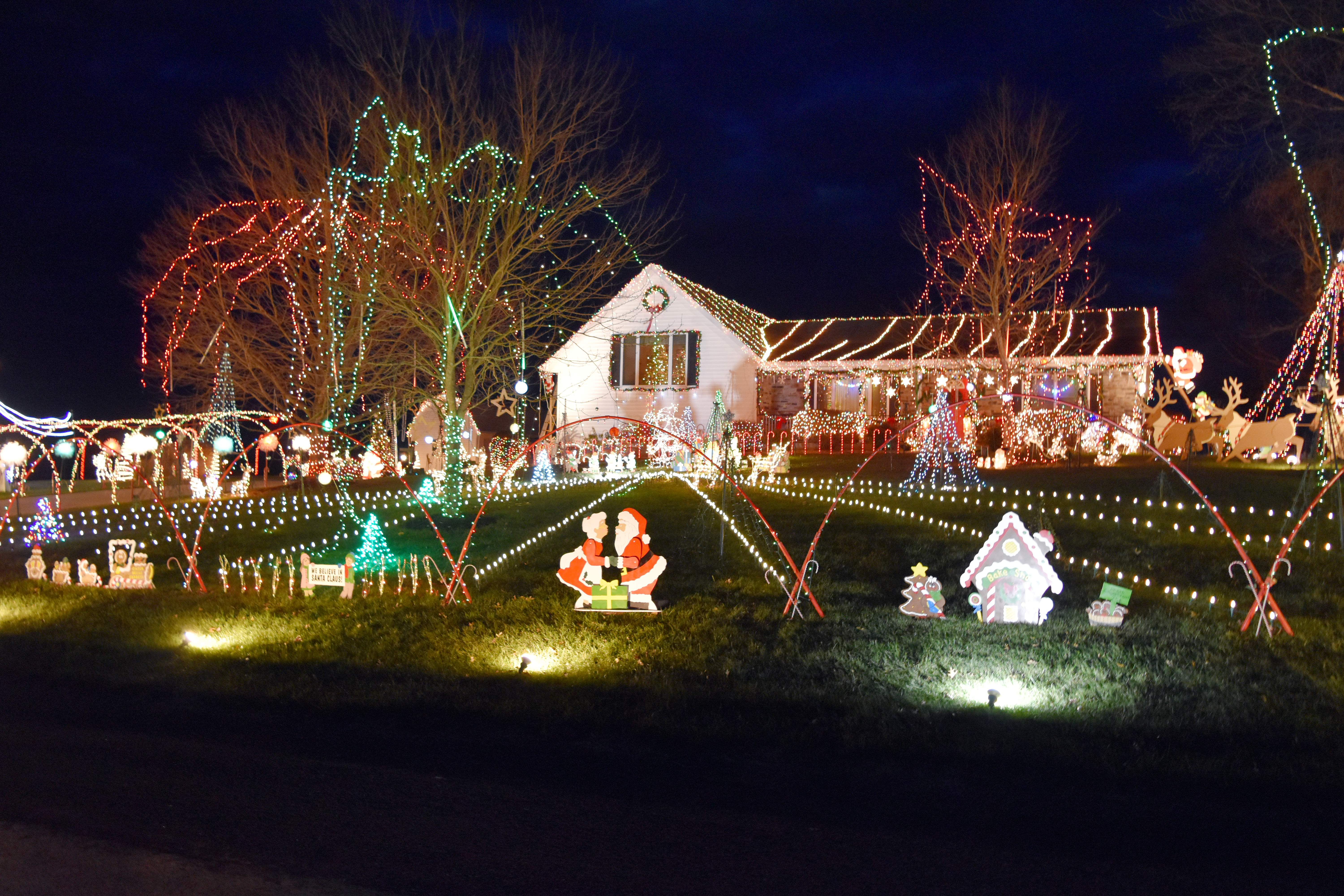 Pictured is Keith and Barb Kittel's home on Union School Road, which once again won first place in the Chester Chamber of Commerce holiday lighting contest.