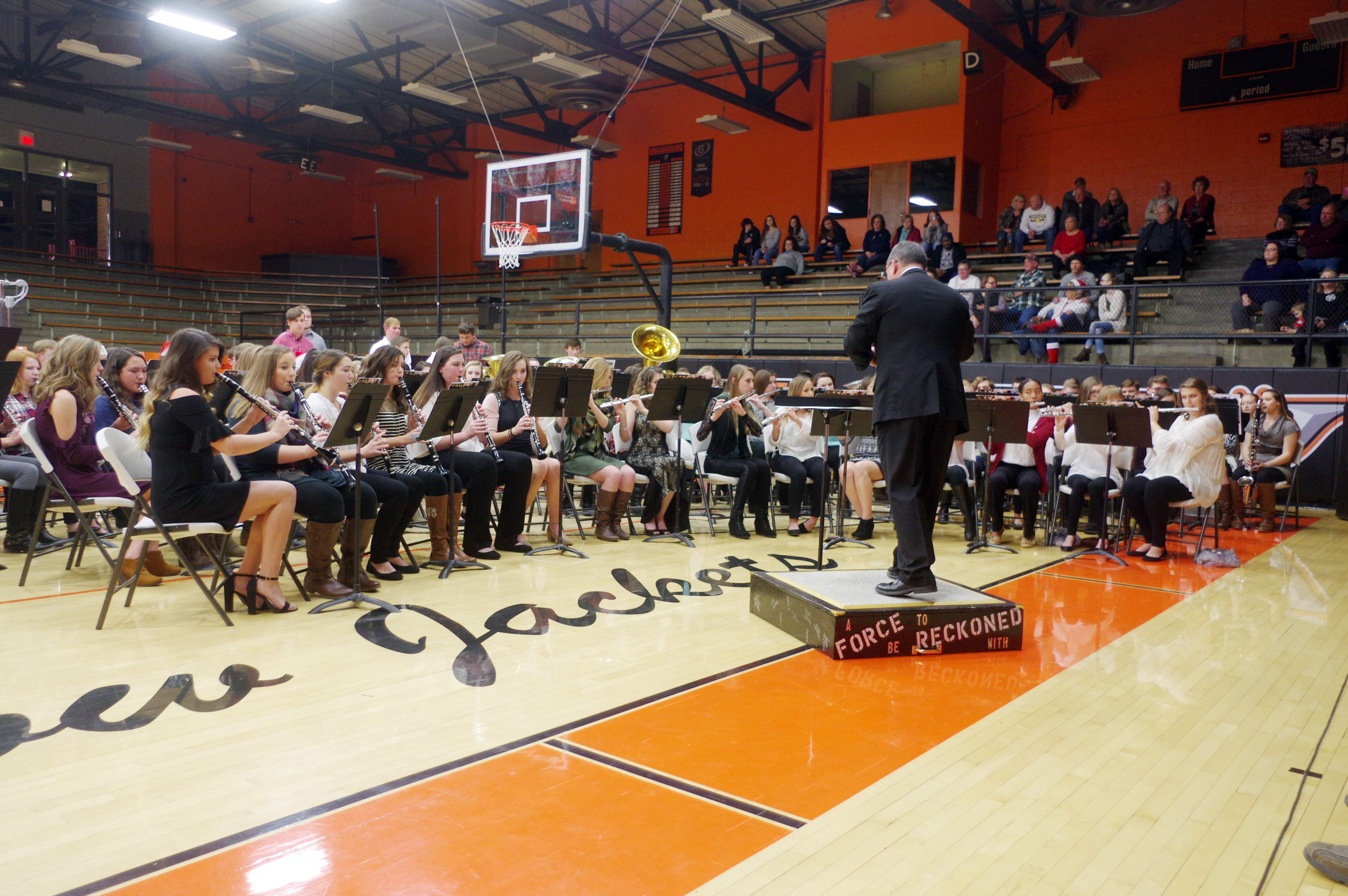 "The Chester High School Concert Band performed ""A Christmas Festival for Band,""  ""Greensleeves"" and ""Ukranian Bell Carol."""