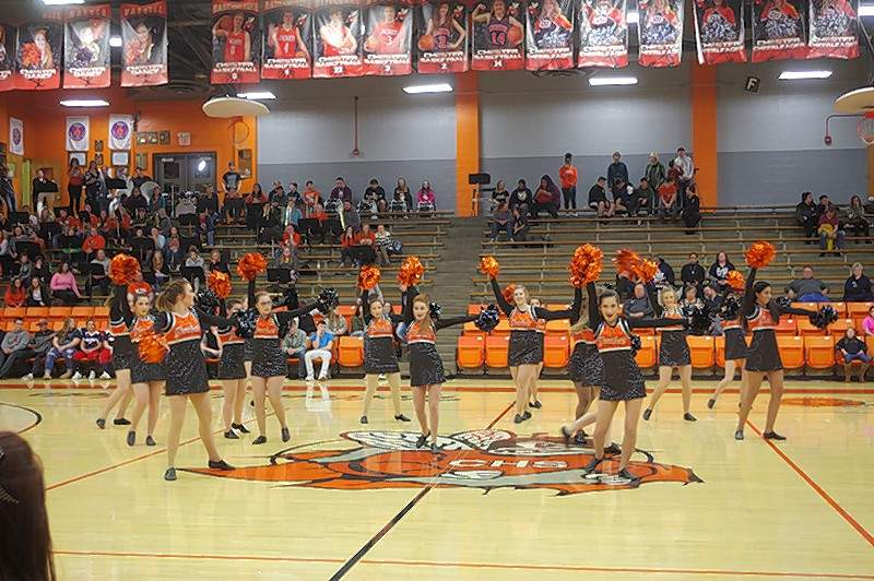 The Chester High School Dance team performed a hip-hop Pom Pon routine at halftime of the Chester YellowJackets vs. Zeigler-Royalton basketball game Jan. 19.The show was a hit and the crowd responded with a large round of applause. The Dance Team is coached by Adrianne Kern, with assistance from Barb Misuraca and Danielle Valleroy.