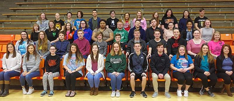"CHS music students participated in the 2018 IHSA State Solo and Ensemble Contest in Nashville, Illinois. Chester entered 97 events at the annual contest and earned 56 1st Place ""Superior"" ratings, 39 2nd Place ""Excellent"" ratings and two 3rd Place ""Good"" ratings. There were 60 individuals that competed from CHS in 44 instrumental solos and ensembles, 51 vocal solos and ensembles, and two piano solos. Chester currently leads the overall 2018 IHSA Music Sweepstakes Competition in Class C with 408 points."
