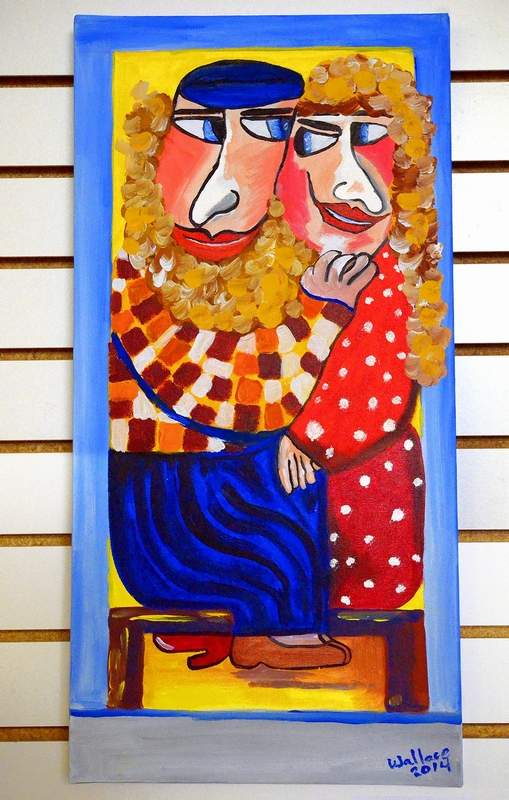 This colorful painting titled, 'Sweethearts,' was created by artist Sue Wallace.
