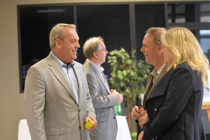 State Sen. Dale Fowler, R-Harrisburg, greets guests entering the Taste of Southern Illinois. The Taste event is the primary fundraiser for the Fowler Bonan SI Clothes for Kids clothing drive. Behind Fowler is Taste of SI founder Michael Tison of Harrisburg.