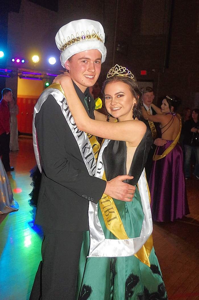 Chester High School 2018 Prom King and Queen Zach Zappa and Sydney Korando enjoy the first dance of the night to kick off the dance portion of the prom.