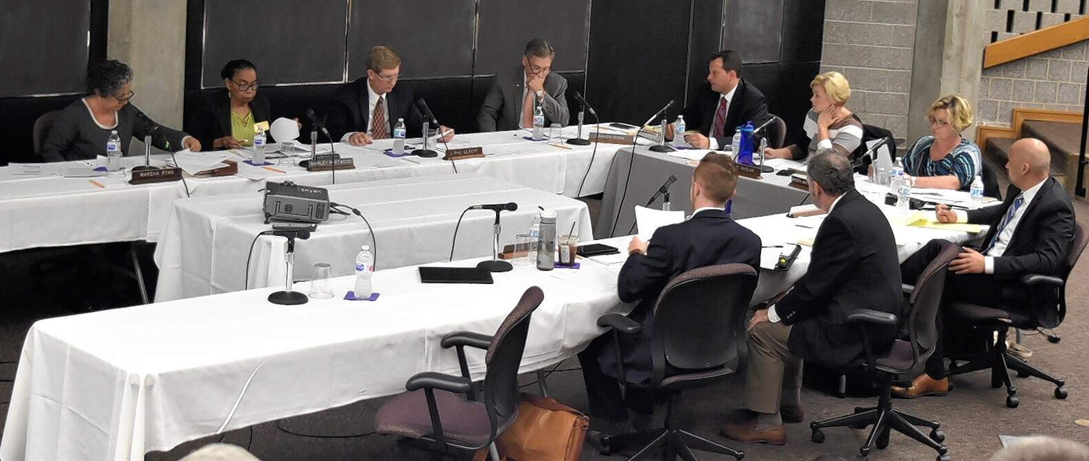 Members of the SIU Board of Trustees meet Wednesday at the SIU School of Medicine in Springfield.