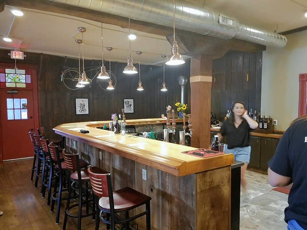 The downstairs bar area at the St. Nicholas Landmark restaurant and taproom.
