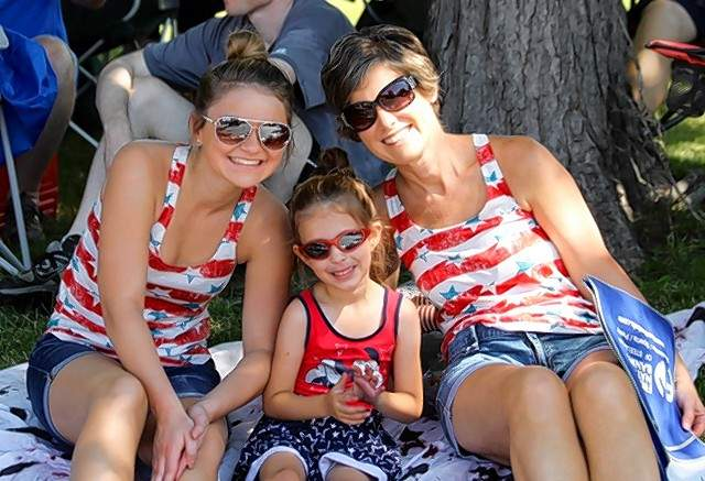The Eubanks Family found a nice shady sport to watch the Steeleville Fourth of July parade.