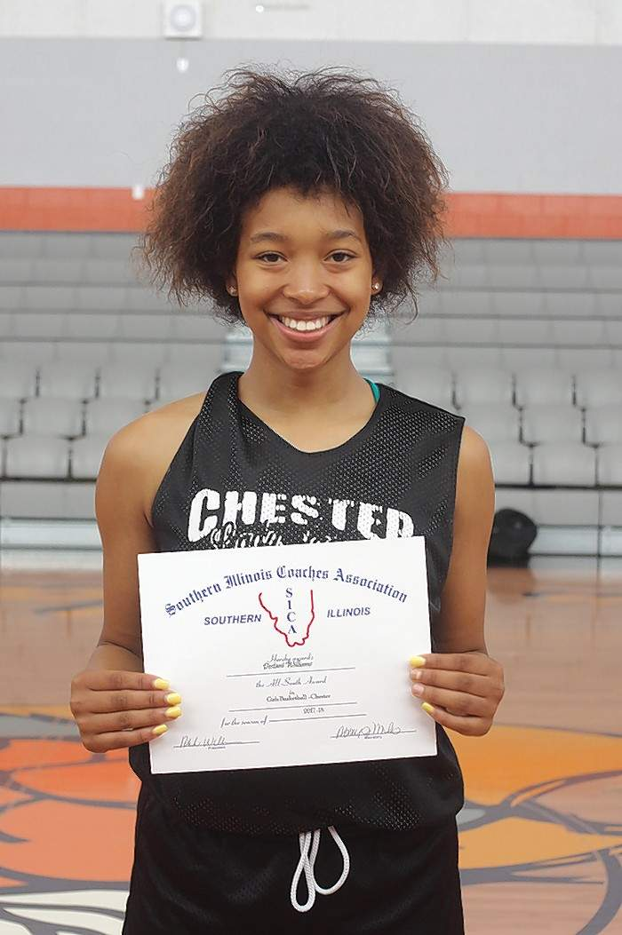 Chester High School's Destiny Williams has earned 2018 All-South honors from the Southern Illinois Coaches Association.