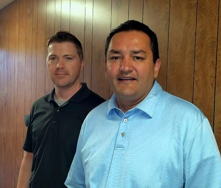 Jason Williams, left, project manager for the Missouri Department of Transportation, and Buddy Desai, vice president of Missouri Transportation.