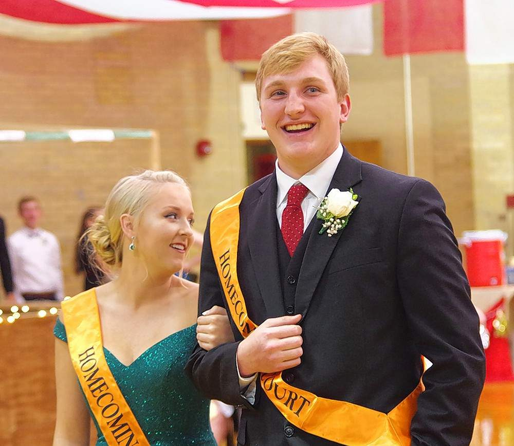 Cara Childs, left, and Drake Bollman were selected 2018 CHS Homecoming King and Queen Runners-Up. The two were taking part in the coronation ceremony Both are seniors at CHS.