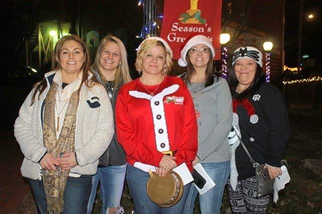 Reindeer Games Team #8, from left, are Mandy Martin, Lori Hepp, Nanette Johnson, Tiffany Couch and Melissa Straight.