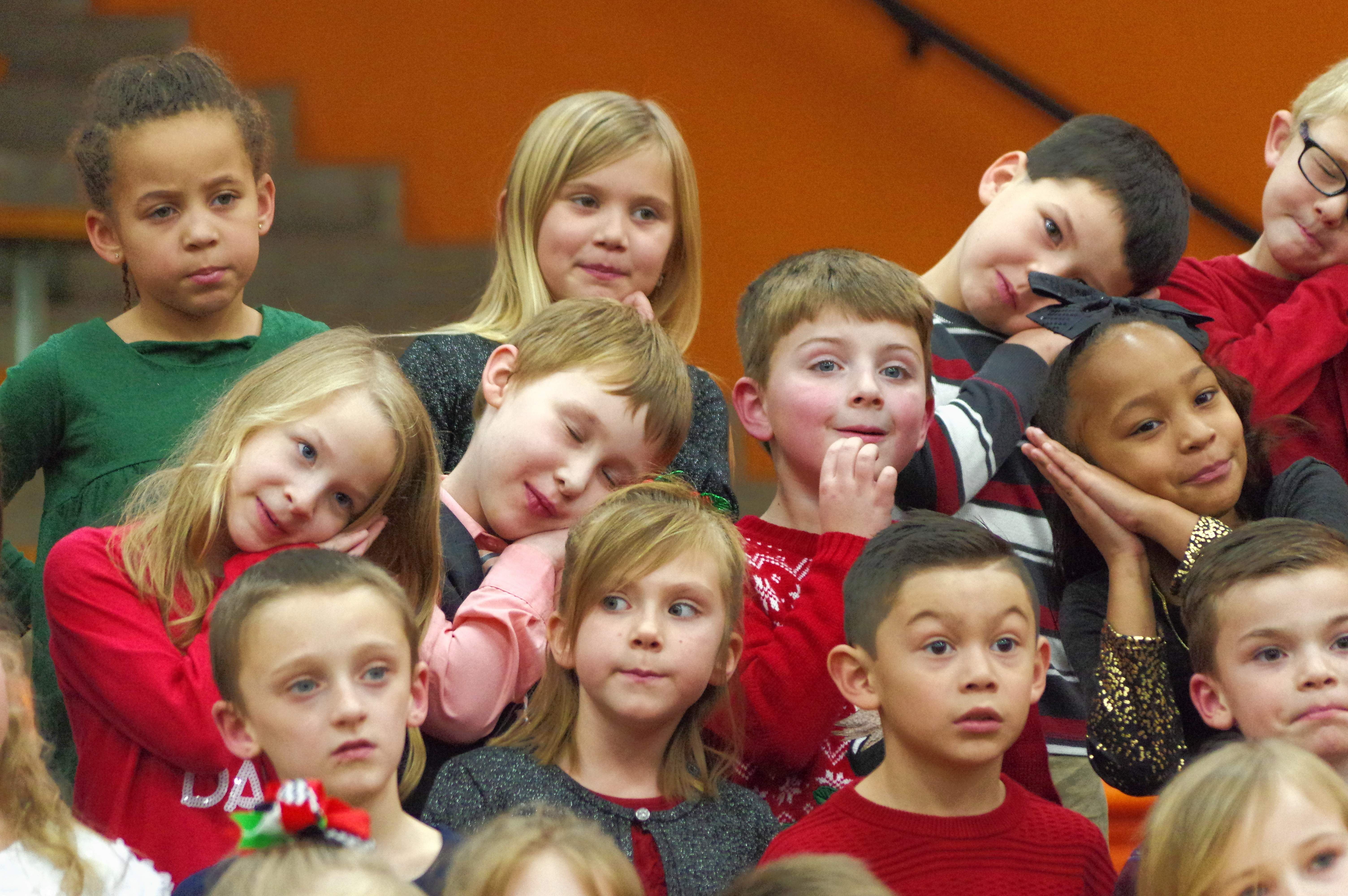 "Chester Grade School second graders sing and act out, ""Rockin' Around the Christmas Tree."""