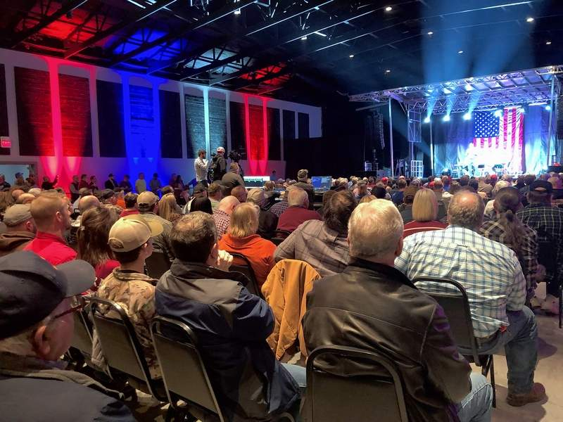 Nearly 450 people packed the Midwest Event Center north of Marion Monday evening for a town hall meeting.
