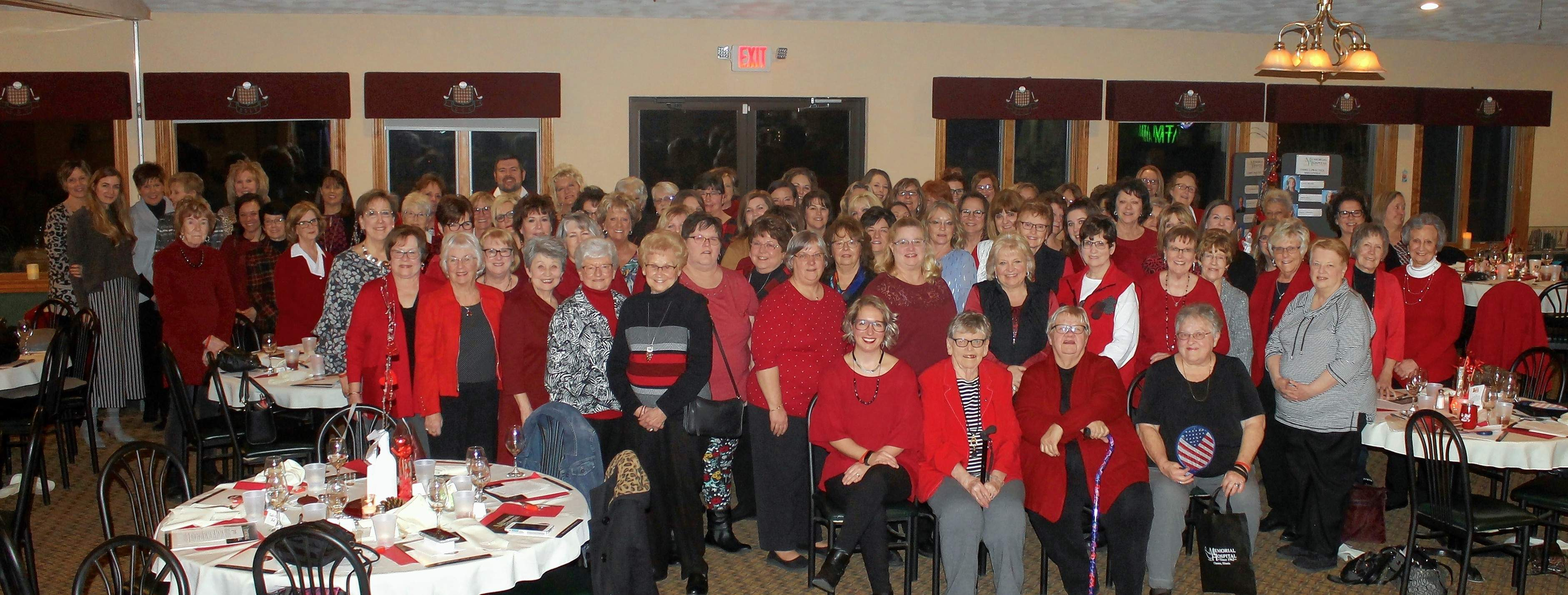 Women enjoy a heart-healthy dinner and wine tasting at Go Red For Women.