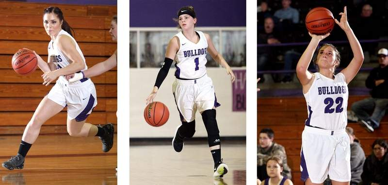 Madeline Rider (left), Brooke Meylor (center) and Karsyn Davis (right) were all named to the SIRR Ohio All-Conference Team.