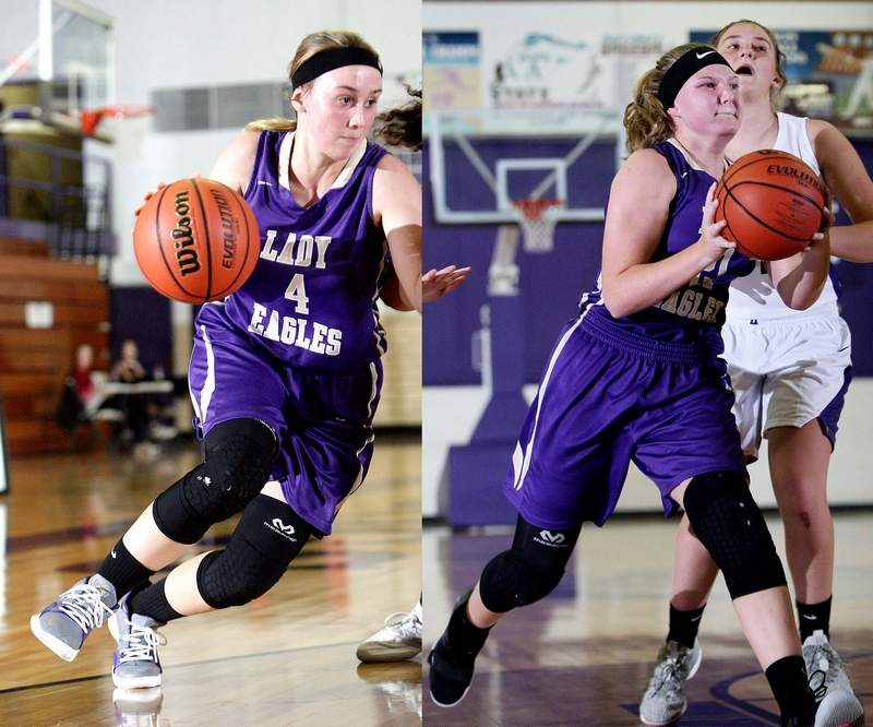 Lexie Mitchell, left, and Lilly Mosby were each named to the BDC East All-Conference Team recently.