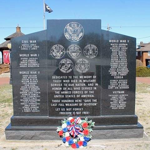 This is what the visitors will be coming to see -- the Chester veterans memorial.