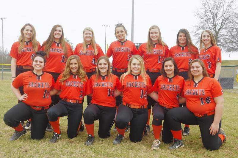 The 2019 Chester High School softball team. Front row, from left: Kaylee James (15), Ryn Petrowske (2), Caitlin Roberts (13), Taryn Baker (14), Shea Petrowske (6), and Jenna Bierman (18).Back row, frm left: Carlee Weir (00), Lauryn Vasquez (21), Katie Shinabargar (4), Kailyn Absher (3), Ashlyn Colvis (12), Grace Stec (8), and Kylie Fortner (7).Not pictured: Anna Childs (9).