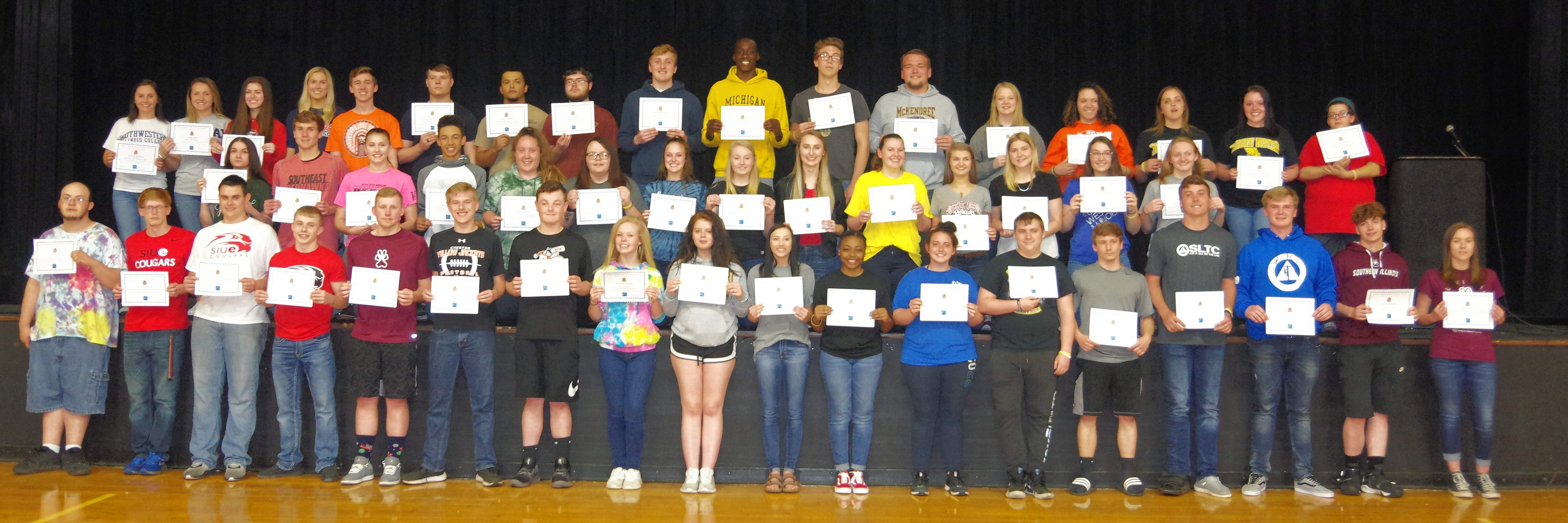 Fifty CHS seniors are recognized by their school for making ambitious plans for their futures after high school.