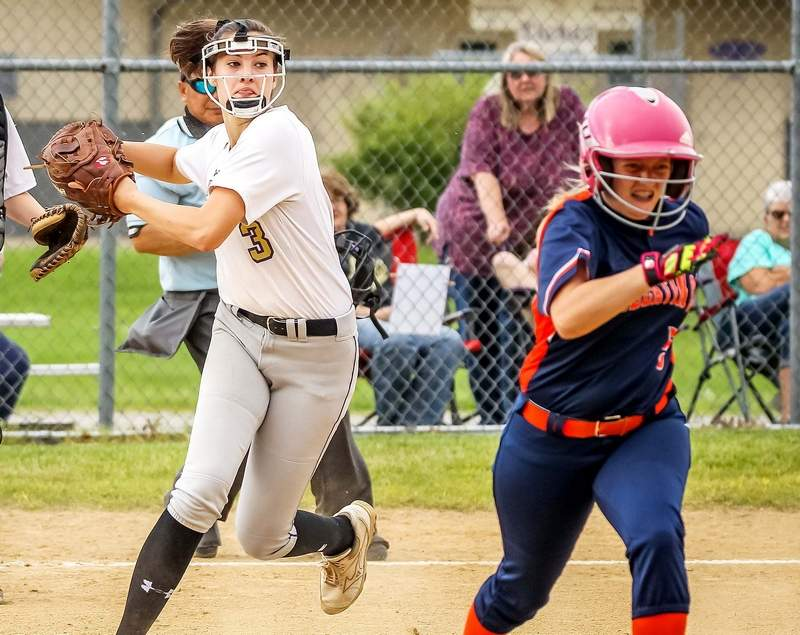 Eldorado's Emma Wargel pitched a perfect game for the Eagle softball team in a 6-0 win against Gallatin County earlier this week. Wargel struck out 18 batters in the victory.