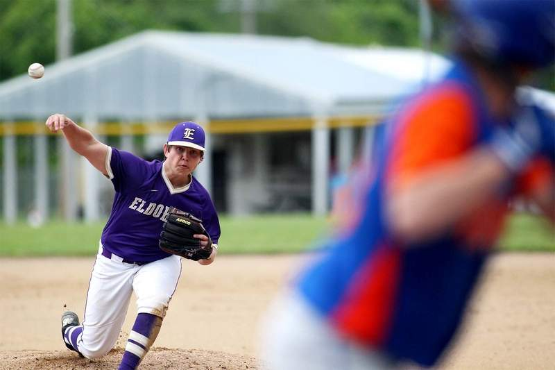 Eldorado's Bryant Byrd struck out 11 and allowed just five hits in a 3-0 shutout over Vienna Monday in the play-in game of the IHSA Class 2A Regional.