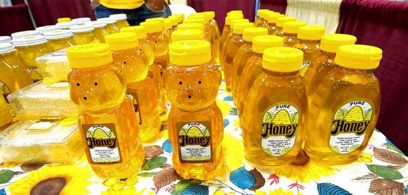 Pictured are some one-pound bottles of liquid honey available for puchase at the SI Made Expo from D & M Honey Farm of Carrier Mills.