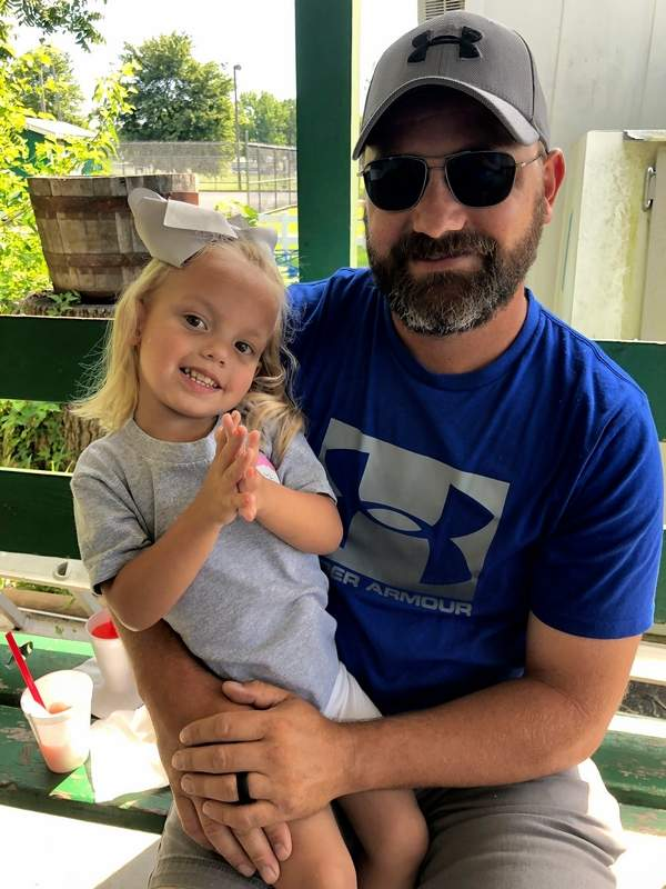 Bryce Hill will literally give a piece of himself to his daughter, Giovanna, on Tuesday, when his left kidney will be transplanted into the toddler and hopefully save her life.
