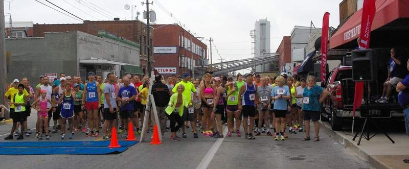 Runners line up awaiting the start of a previous year's Popeye Race event on Swanwick Street in Chester. This year's race is Sept. 7.