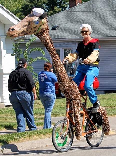 The St. Louis-based Banana Bike Brigade joined the parade, including this whimsical creation.