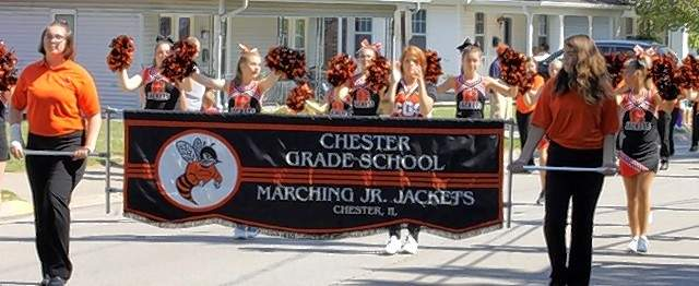 The Marching Junior Jackets from Chester Middle School.