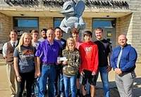 """State Sen. Paul Schimpf met with the Chester High School Trap Shooting Team this week, and delivered a scholarship from the Illinois Legislative Sportsmen's Caucus. """"Best of luck with the remainder of your season!"""" the senator said."""