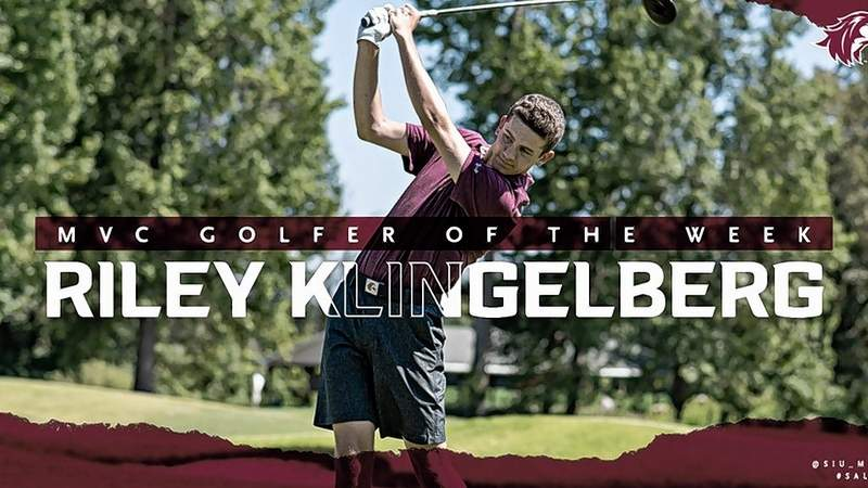 SIU's Riley Klingelberg has been named the Missouri Valley Conference Player of the Week.
