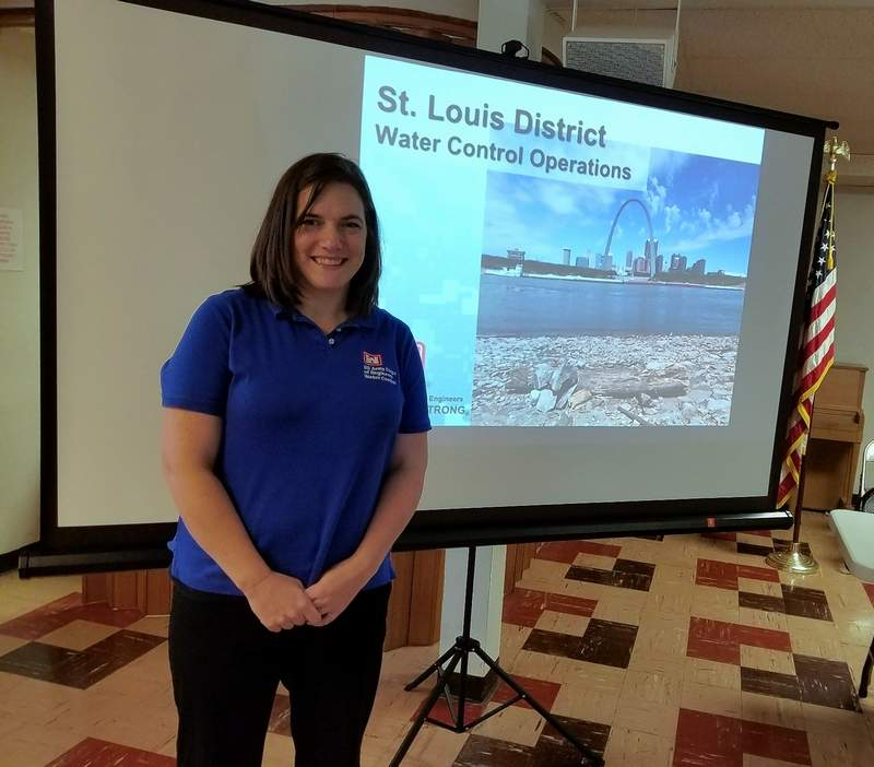 Liz Norrenbernes of the U.S. Army Corps of Engineers, was the guest speaker at the Oct. 25 meeting of the Chester Women's Club.