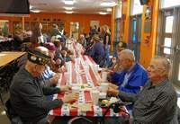 Veterans enjoy the 2019 Veterans Day Breakfast on Friday, hosted by the CHS History Department and the Fellowship of Christian Athletes.