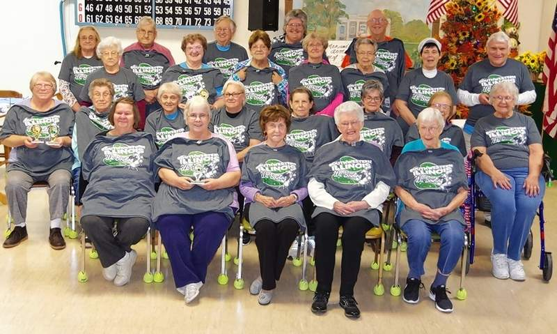 Many of the Wii bowlers who played this season attend the end-of-the-year banquet and awards evening at the Chester Senior Center.