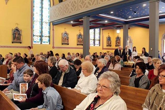St. Mary's was packed with parishioners for Sunday's rededication.