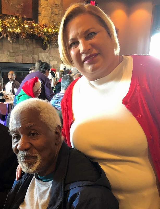 Cynde Bunch with Clarence, one of her inspirations for her support of Centerstone.