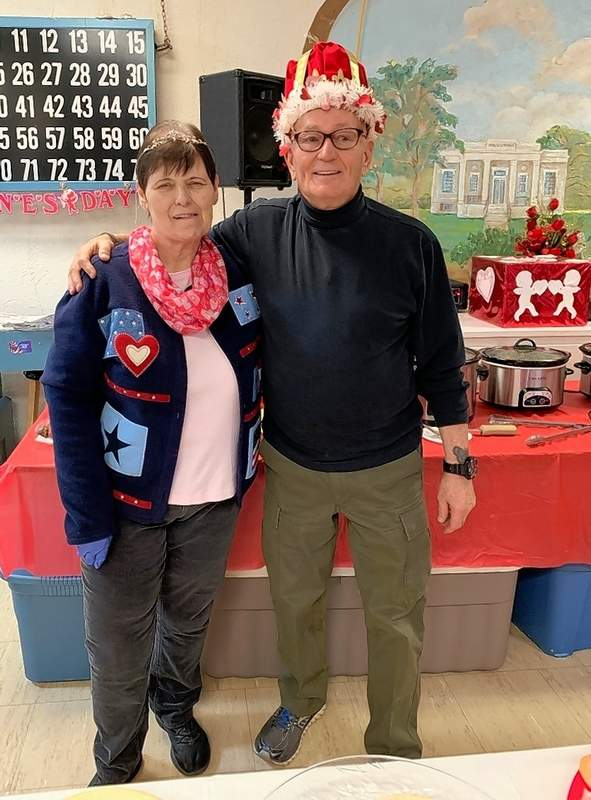 Bill Heffernan and Carol Holley were chosen the 2020 Valentine King and Queen of the Chester Senior Center.