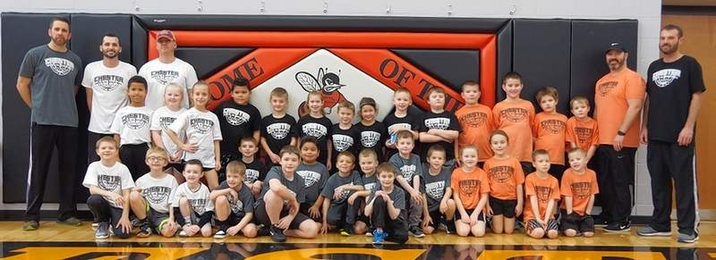 Sixty-three children came out for the youth basketball league held in January and February.