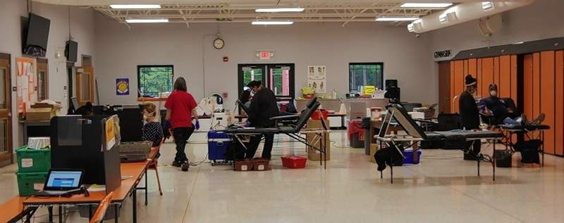 Red Cross workers got 27 units of blood at the May 13 drive.