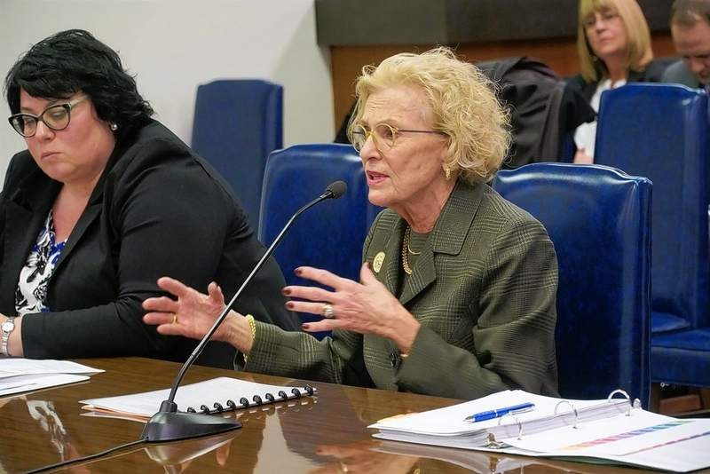 Illinois Supreme Court Chief Justice Anne Burke testifies during a hearing March 4 at the Capitol in Springfield. On Wednesday, Burke and other chief justices issued guidance on how district courts may resume in-person proceedings beginning June 1.