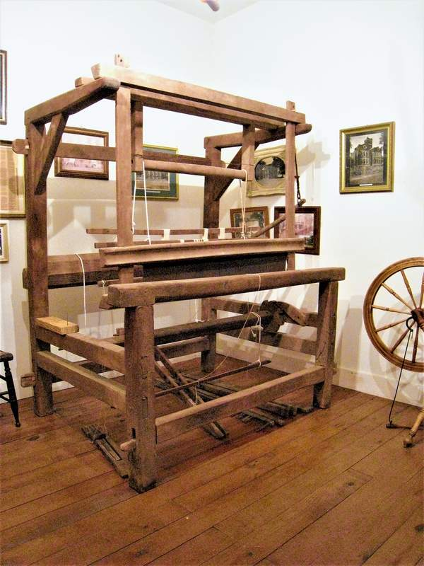 A donated barn loom now rests in its new home in the John Marshall Museum in Old Shawneetown.