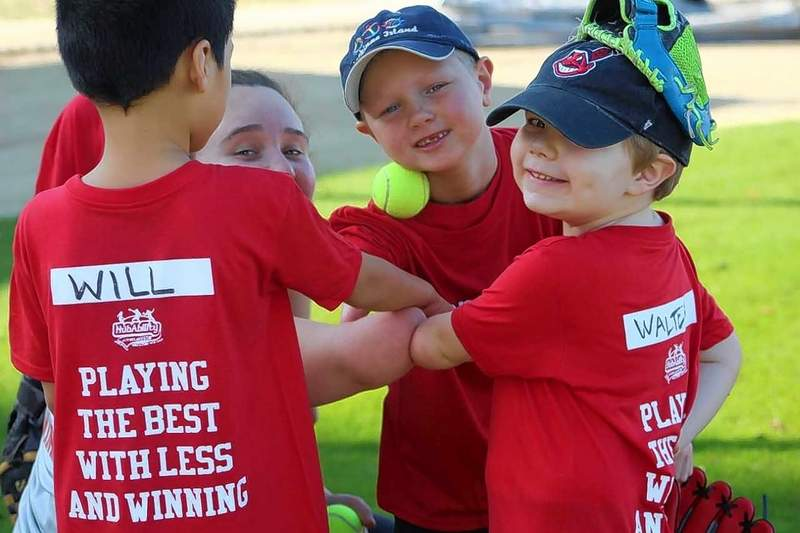 Children at a recent NubAbility summer sports camp in Du Quoin, who make friends quickly.